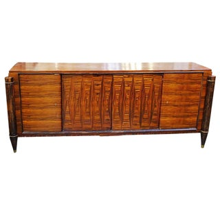 French High Style Art Deco Macassar Ebony Credenza For Sale