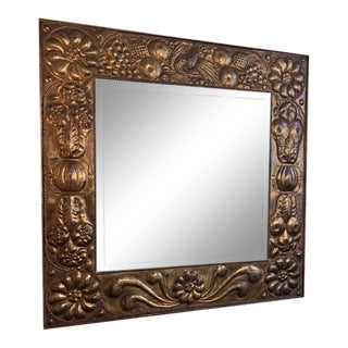 19th Century Continental Gilt-Metal Mirror For Sale