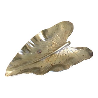 Mid-Century Brass Calla Lily Leaf Catchall For Sale