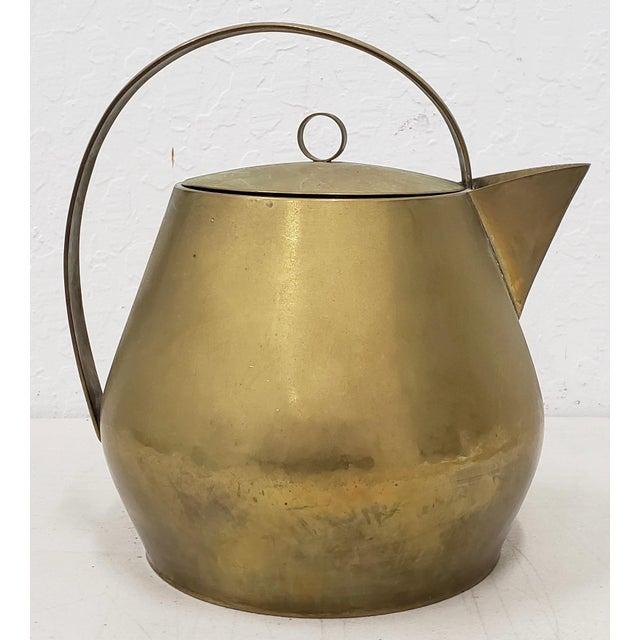 Hayno Focken (Germany, 1905-1968) Brass Teapot W/ Lid C.1930 For Sale In San Francisco - Image 6 of 6