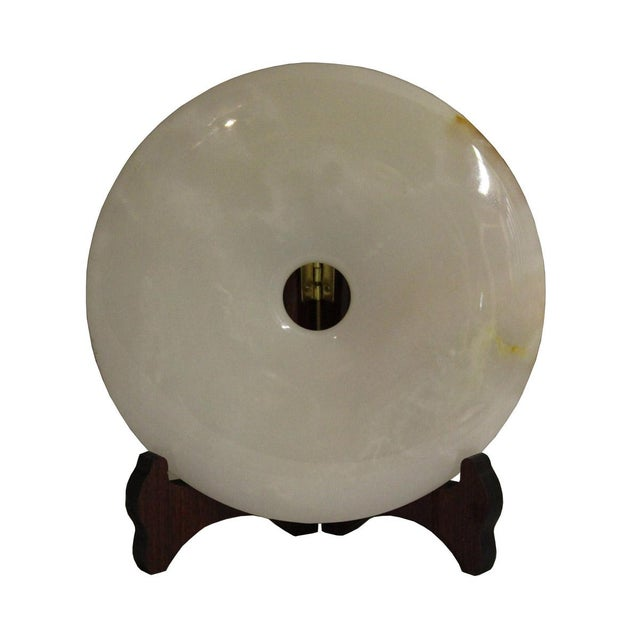 Chinese Natural Round Stone Feng Shui Lucky Symbol Display Chairish