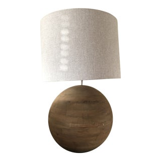 Teak Table Lamp For Sale