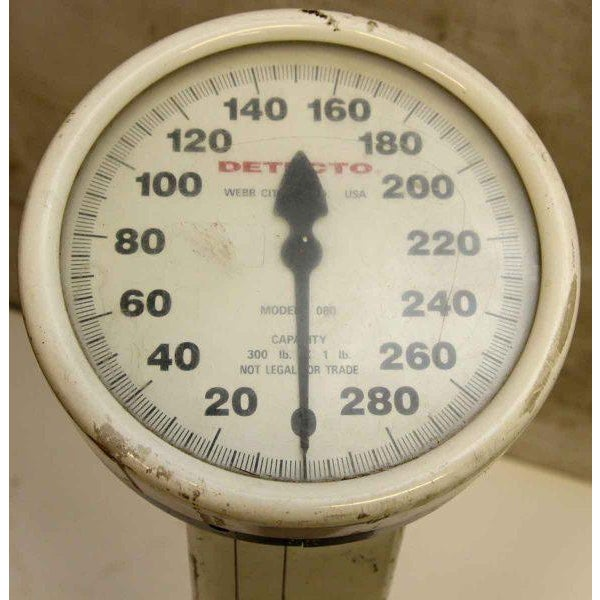Vintage White Metal Detecto Scale - Image 4 of 10