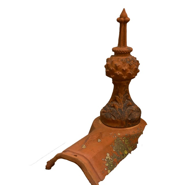 French French Terra Cotta Roof Finials - a Pair For Sale - Image 3 of 6