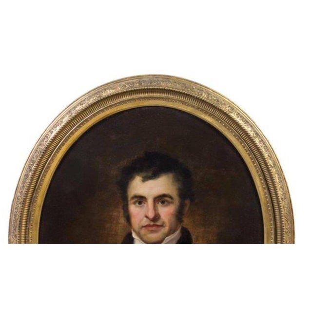 Artist unknown (19th century) portrait of robert burns oil on canvas measures: 29 3/4 x 24 5/8 inches. Handsome and in...