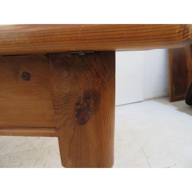 English Scrub Pine Farm Table - Image 4 of 7