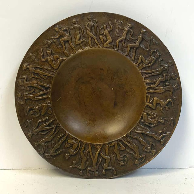 French Modern Bronze Vide-Poche, Dancing Female Nudes For Sale - Image 4 of 9
