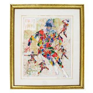 Modern Framed Lithograph Signed Leroy Neiman Harlequin Bergamo 95/300 For Sale