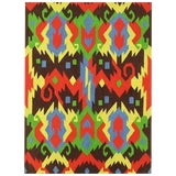Image of Edward Fields 1972 Colorful Geometric Rug For Sale