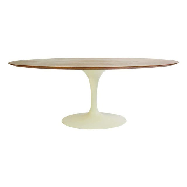 Wood Eero Saarinen for Knoll Walnut Oval Dining Table For Sale - Image 7 of 7