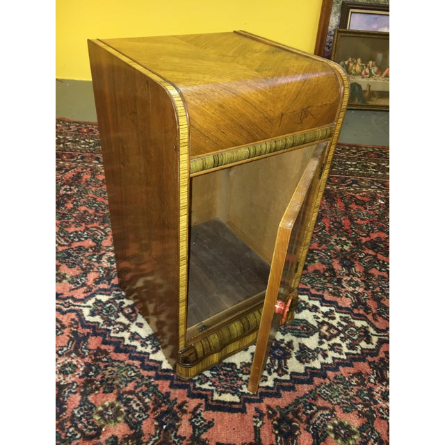 Antique Art Deco Waterfall Style Nightstand - Image 8 of 9