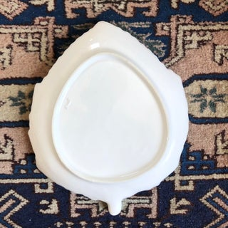White Italian Pottery Leaf Plates- Set of 6 Preview
