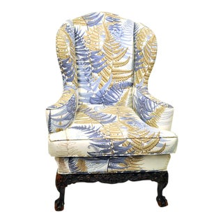 Early 20th Century Wingback Arm Chair For Sale