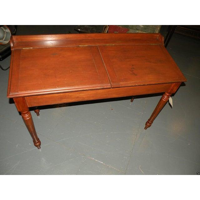 Antique Primitive Cherry Desk - Image 2 of 8