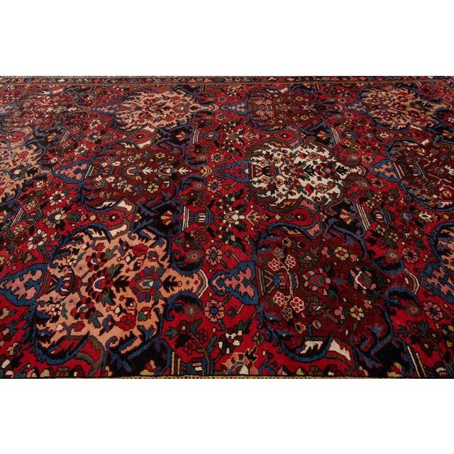 "Maroon Apadana - Antique Bakhtiari Rug, 10'6"" X 13'5"" For Sale - Image 8 of 10"