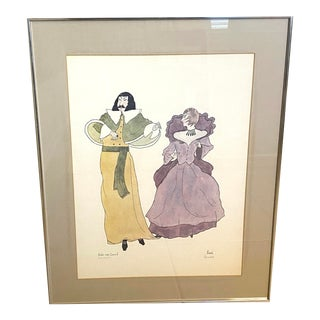 "Moran Limited Edition ""The Dance"" Signed Lithograph Framed Wall Art Original Print For Sale"
