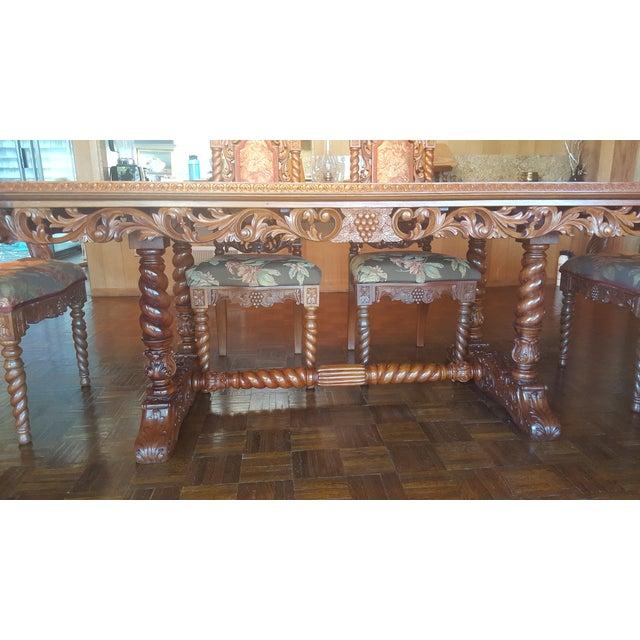 Rare Antique Narra Wood Dining Set - Image 7 of 11