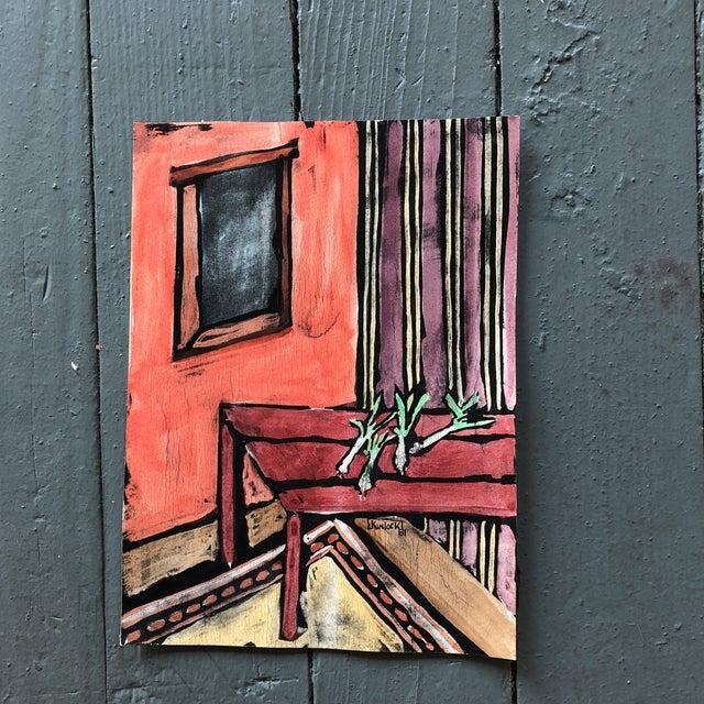 """Collection 11 Original Vintage Gouache Paintings """"Sur La Table"""" For Sale - Image 4 of 13"""