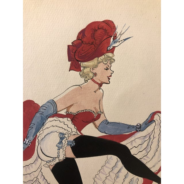 Figurative Mid-Century Can Can Dancer by Alice Huertas For Sale - Image 3 of 6