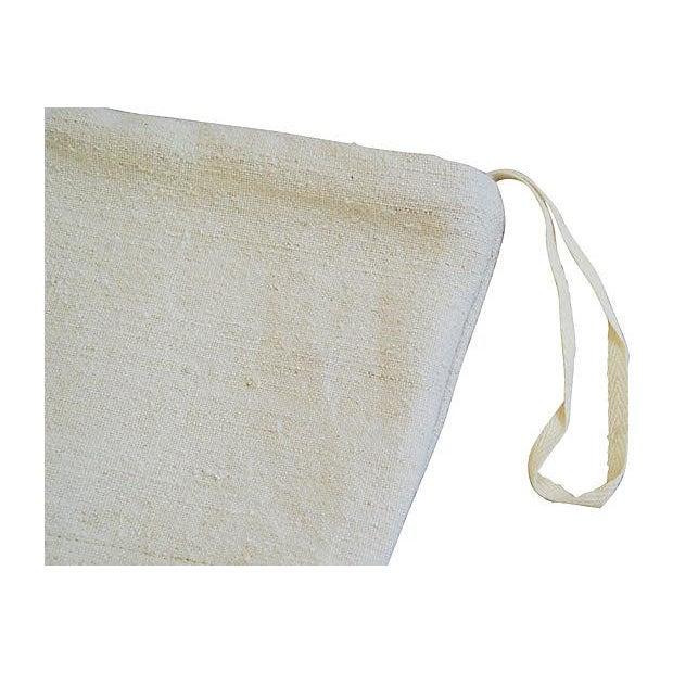 French Grain Sack Christmas Stockings - Pair - Image 6 of 6