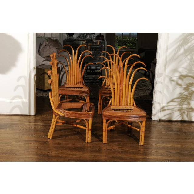 Jaw-Dropping Unique Pair of Custom-Made Palm Frond Chairs, circa 1950 For Sale In Atlanta - Image 6 of 13