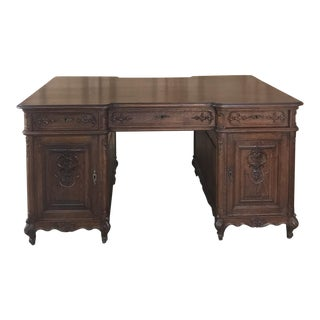 Antique French Louis XV Partner's Desk For Sale