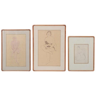Three Lovely Watercolors by Maurice Sterne For Sale