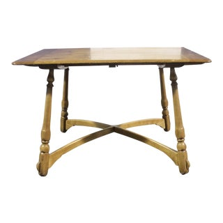 1920s Rustic/Colonial Phoenix Chair Company Pine Dining Table