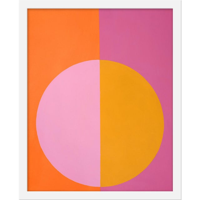 """Small """"Pink and Orange Forever"""" Print by Stephanie Henderson, 16"""" X 20"""" - Image 1 of 2"""