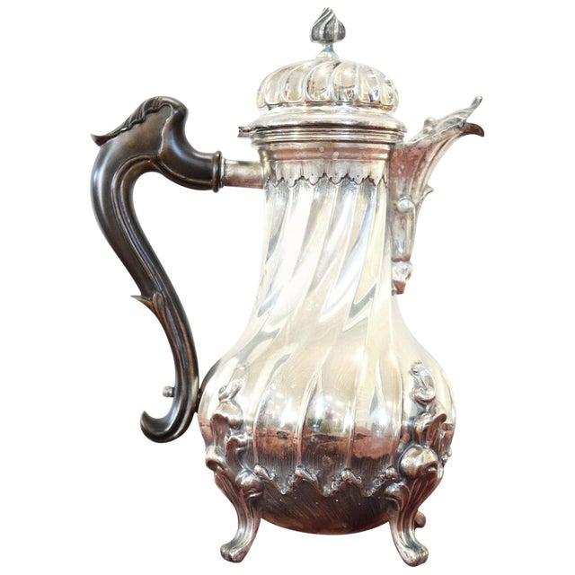 20th Century Italian Baroque Style Silver 800 Coffee Pot For Sale