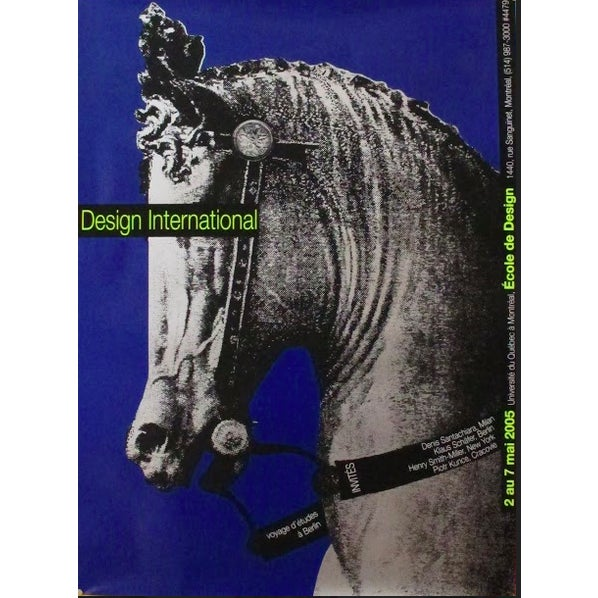Contemporary 2005 Original Design International Uqam Poster (Horse) - Alfred Halasa For Sale - Image 3 of 3