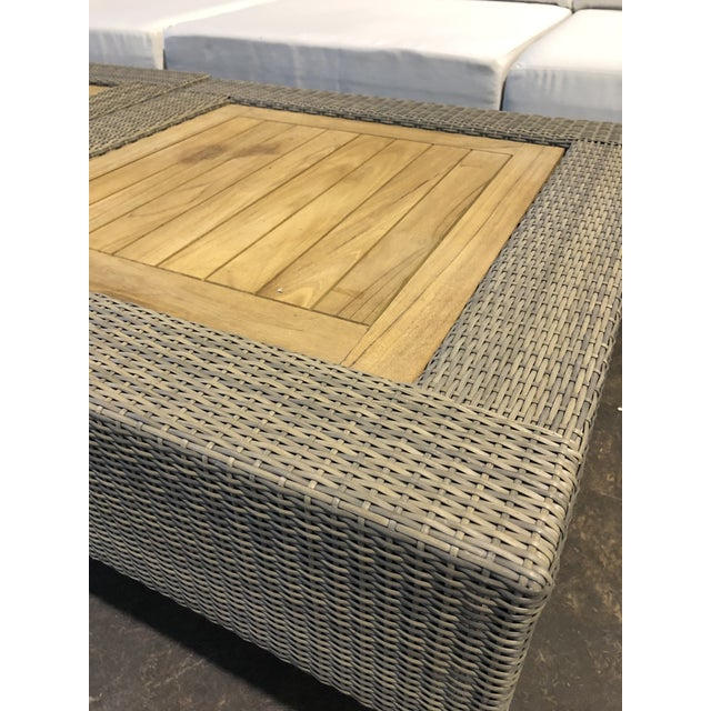 Canvas David Francis Outdoor Sectional - Set of 6 For Sale - Image 7 of 8
