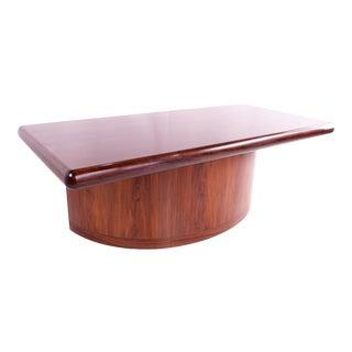 1960s Mid Century Modern Dyrlund Danish Rosewood Semi-Circle Executive Desk For Sale