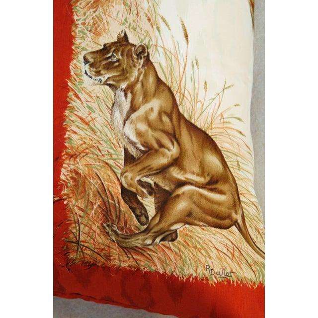 Custom Hermes Robert Dallet Safari Kenya Pillow - Image 9 of 11