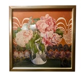Image of Charles Rennie MacKintosh Peonies Print in Frame For Sale