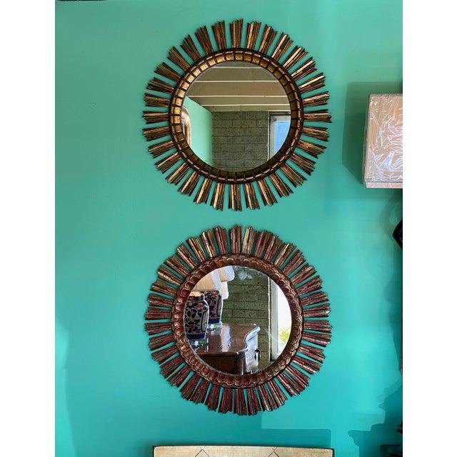 19th Century Gilt Sunburst Mirror For Sale - Image 5 of 6