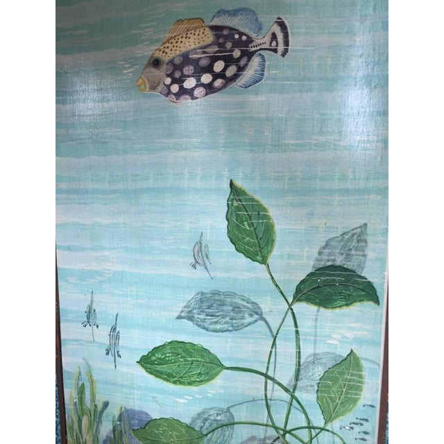 Mid-Century Modern Hand-Painted Aquatic Turtle-Footed Chest Dresser For Sale - Image 3 of 8