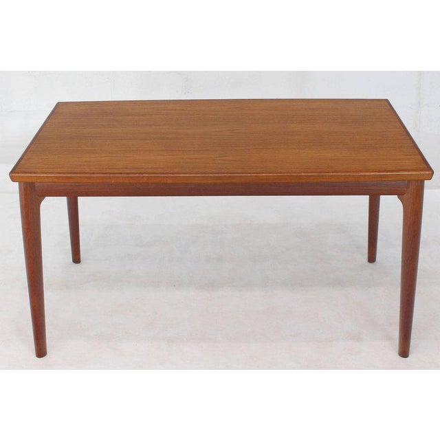 Mid-Century Modern Danish Modern Rectangular Boat Shape Refectory Dining Table For Sale - Image 3 of 8