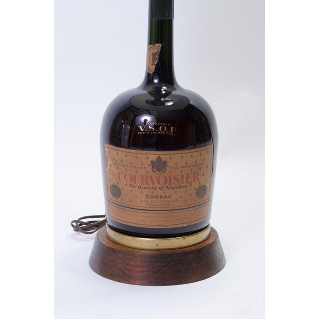 Vintage Courvoisier Bottle Lamp For Sale - Image 4 of 10