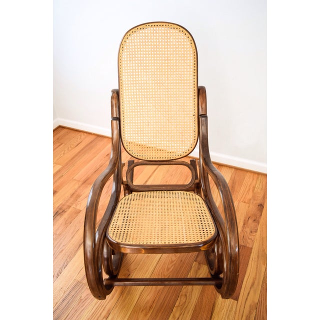 Vintage Thonet Style Bentwood Cane Rocking Chair - Image 5 of 6