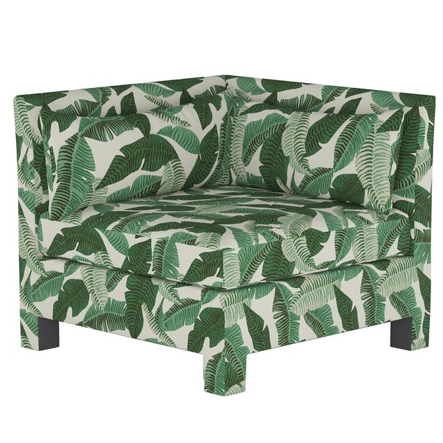 Textile Corner Chair, Banana Palm Natural For Sale - Image 7 of 7