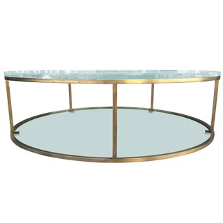 "Lucite and Solid Brass ""Aro One"" Low Table by Amparo Calderón Tápia For Sale"