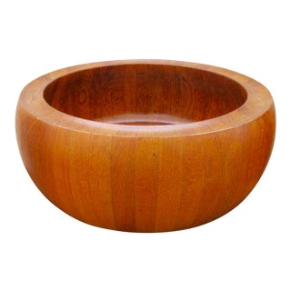 1960s Danish Modern Digsmed of Denmark Solid Teak Salad Bowl For Sale