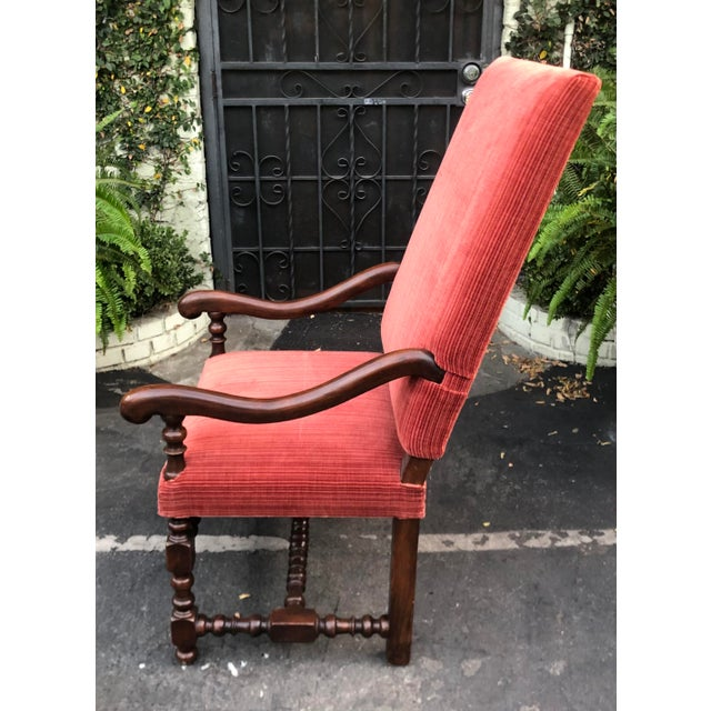 Vintage Ebanista Spanish Colonial Side or Desk Chair For Sale - Image 4 of 5