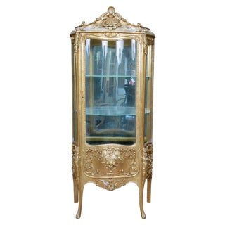 Mid-1850's French Gilt Curio Cabinet