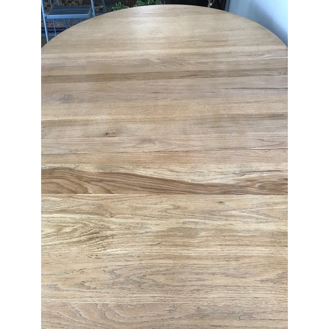 20th Century Early American Claw Foot Solid Oak Dining Table For Sale - Image 4 of 5