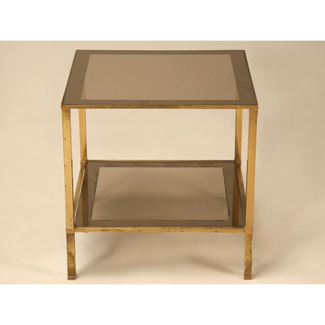 Fantastic French Forties design, this quaint cube table has plenty to offer for its petite size. Square shaped legs...