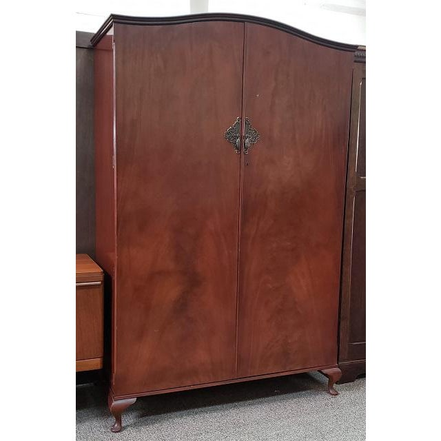 Mid-Century Modern Classic English Regency Style Vintage Armoire C.1950s For Sale - Image 3 of 7