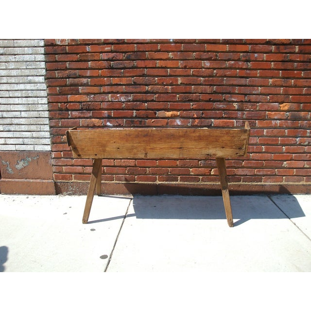 Primitive Wood Butcher Block Table - Image 5 of 5