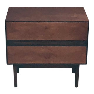 H. Paul Browning for Distinctive Furniture Rosewood & Walnut Nightstand